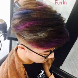 [ARCHES HAIRSPA + SALON] He did well for his exam so parents allowed him to color his hair as a reward.
