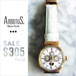 [Arbutus] Featuring complications such as calendar functions and 24-Hour sub-dials, Arbutus watches showcase a perfect balance between aesthetic and