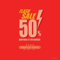 [World of Sports] FLASH SALE IS NOW ON!