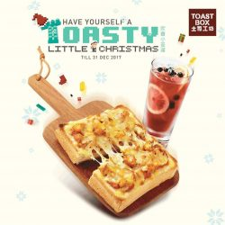 [Toast Box Singapore] Feast on the rich flavours of our new Cheesy Curry Chicken Toast and Roselle Plum Tea!