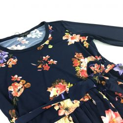 [LOVFLAUNT] Accentuate your curves with our Dark Floral Peplum Top when paired with casual shorts.