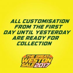 [WESTON CORP] All Boot Customisation From Day 1 Till Yesterday=Are Ready For Collection Please Collect Your Boots From The Collection Point