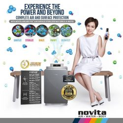 [Novita] Enjoy a complete air and surface protection now with novita Aircare Pro Air/Surface Sterilizer NAS12000 & H-Mist02 today!
