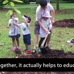 [MindChamps Medical] MindChamps PreSchool @ Serangoon champions environmental awareness with its Project Save & Love by planting tress.