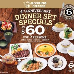 [Hoshino Coffee Singapore] Hurry Up to enjoy 6th Anniversary special set promotion available at all Hoshino Coffee outlets until the end of November!