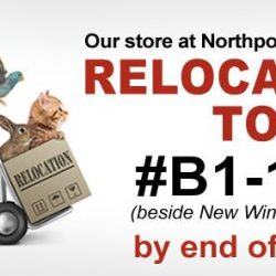 [Pet Lovers Centre Singapore] Hey Pet Lovers, our Northpoint City Store will be relocating to B1-113 (beside New Wing Garden) by the end