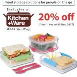 [Kitchen + Ware] 20% off Made in New Zealand, BPA-Free Sistema Lunch boxes & plastic wares!