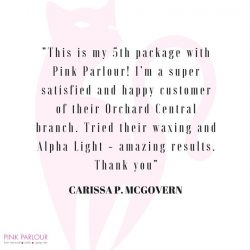 [Pink Parlour] One of our customer testimonials.