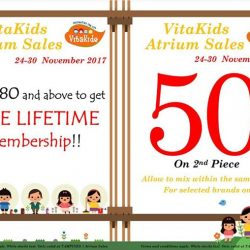 [VitaKids] Tomorrow is the last day to shop our Atrium Sales at Tampines 1, Basement 1!