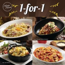 [Waterway Point] Enjoy 1-for-1  mains at Miam Miam (01-62) with a min.