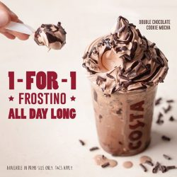 [Costa Coffee Singapore] Double the flavor, double the chocolate cookie, double the fun!