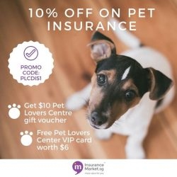 [Pet Lovers Centre Singapore] Insurance for your Pet got easier with 10% discount, plus a $10 Pet Lovers Centre voucher and a free PLC