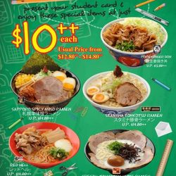 [Ramen Champion Singapore] Weekdays' Student Specials are also available at Ramen Champion Clarke Quay Central outlet now!