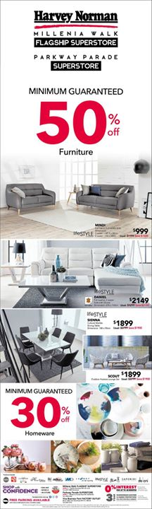 [Harvey Norman] Furniture deals of the week at HarveyNormanSG!