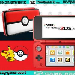 [GAME RESORT] New nintendo 2DS XL Pokeball Edition,Step up to XL screens in a lightweight, go-anywhere system.