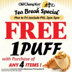 [Old Chang Kee Singapore] New Tea Break Special!