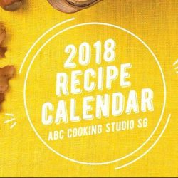 [ABC Cooking Studio] Year End Promotion - 2018 Recipe Calendar Giveaway.