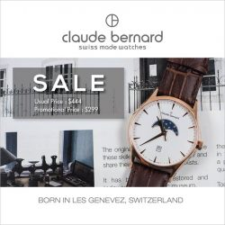 [Claude Bernard] Swiss Made quality and luxury made even more affordable.
