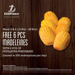 [Delifrance Singapore] If you love madeleines, you definitely don't want to miss this offer 🙌🏼 Hurry on to our Wheelock outlet to
