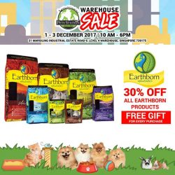 [Pets' Station] PSWarehouseSale2017 SNEAK PREVIEW Nourish your pet with Earthborn.