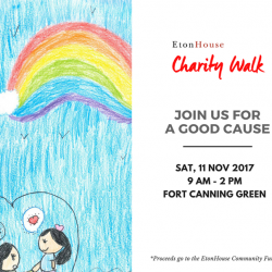 [E-BRIDGE PRE-SCHOOL] EtonHouse Charity Walk and Fun Fair is happening tomorrow!