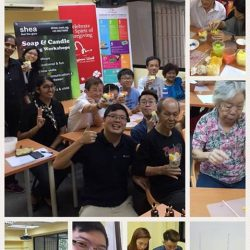 [Shea] Another session with Caregiving Welfare Association (CWA) for their caregivers, this time Candle Making 🕯