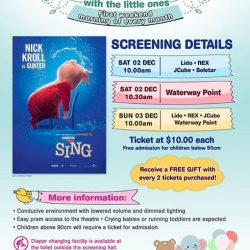 [Shaw Theatres] Join us for Movies with the Little Ones on 2 December (Saturday) & 3 December (Sunday).