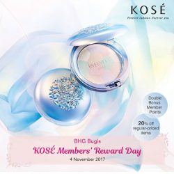 [BHG Singapore] Come on by BHG Bugis this Saturday, 4th November as we celebrate KOSÉ Members' Reward Day!