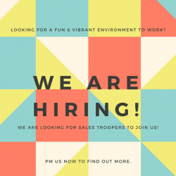 [Lifestorey] Sales Representative Wanted: We're looking for someone who's fun-loving & vibrant communicator with an interest in designer furniture!