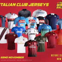 [WESTON CORP] The Great Weston Sale 2017 Italian Clubs Apparel Sale Stay Tuned For More Posts Throughout The Whole Day Location- Weston
