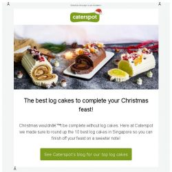 [CaterSpot] The best log cakes to complete your Christmas feast!