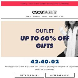[ASOS] Up to 60% off premium gifts