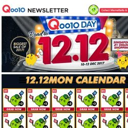 [Qoo10] Time To Get Ready For Our Biggest Sale Of The Year With Amazing Deals and FREE GIVEAWAYS!