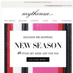 [mytheresa] Exclusive pre-shopping: the best of the new season