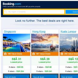 [Booking.com] Singapore, Hong Kong and Kuala Lumpur -- great last-minute deals as low as S$ 12!