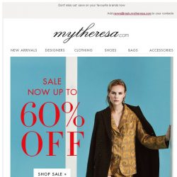 [mytheresa] Sale: now up to 60% off