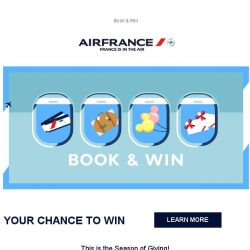 [AIRFRANCE] Book & Win Fantastic prizes online!