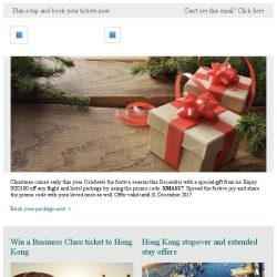 [Cathay Pacific Airways] A gift for you: Enjoy SGD100 off flight and hotel packages