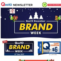 [Qoo10] Last Brand Week Of The Year! Grab The Crazy Deals From Your Favourite Brands Now!