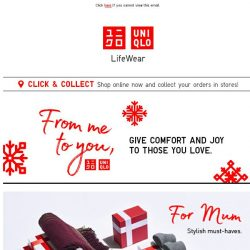 [UNIQLO Singapore] Gifts for your Mum and Dad