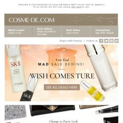 [COSME-DE.com] 🌟WISH COMES TURE! Year-End Mad Sale Begins👀See All Deals HERE→