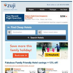 [Zuji] Exclusive: Family Friendly Hotels Feature!