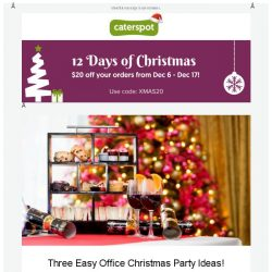 [CaterSpot] Three fun Office Christmas Party Ideas