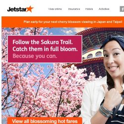 [Jetstar] 🌸 Top Sakura viewing spots to check out in Japan and Taipei! Book early and save.