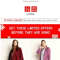 [UNIQLO Singapore] Get these offers before they are gone!