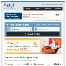 [Zuji] ✌ Singapore Airlines on Sale! 2 to go HK fr $242.
