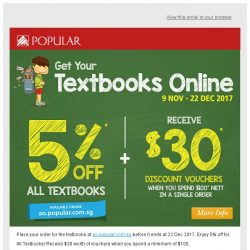 [Popular] Order Your Textbooks Now Before It Ends at 22 Dec!