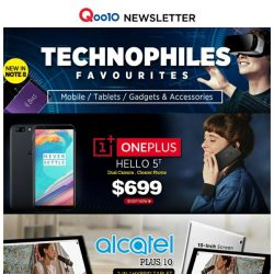 [Qoo10] Attractive Price @$699 OnePlus 5T & @ $199 ALCATEL PLUS Tablet !! MOBILE WORLD ! LAST CHANCE HURRY GRAB NOW !