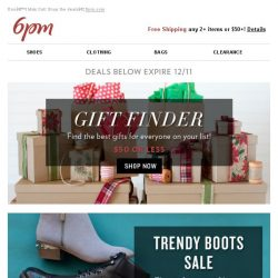 [6pm] Shop Gifts $50 or Less + a Trendy Boots Sale!