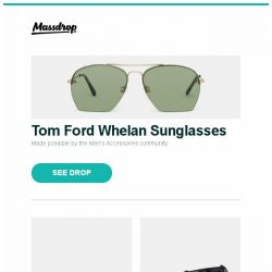 [Massdrop] Tom Ford Whelan Sunglasses, TOPS Knives Tom Brown Tracker (T-1), Princeton Tec Remix & Remix Plus Headlamps and more...